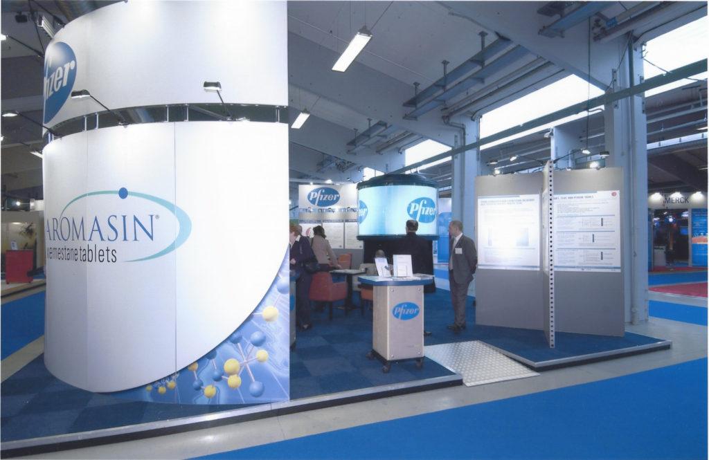 Exhibition Booth for Pfizer ECCO 12 | the European Cancer Conference | September 21 - 25, Copenhagen, Denmark.