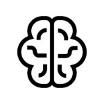 Thinking, brain line icon